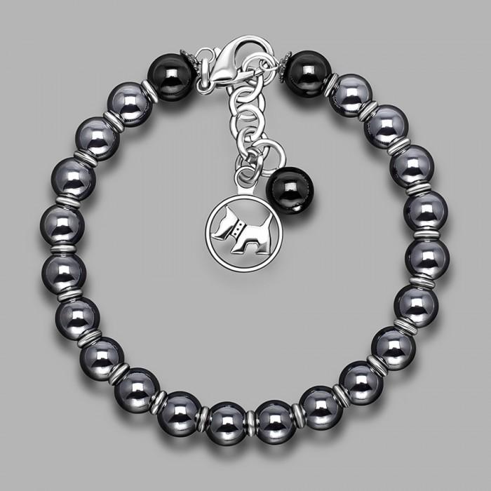 Дизайнерский браслет из камней гематита. Бижутерия Rico La Cara.