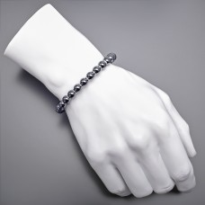 Украшение на руку из гематита. Дизайнерская бижутерия.
