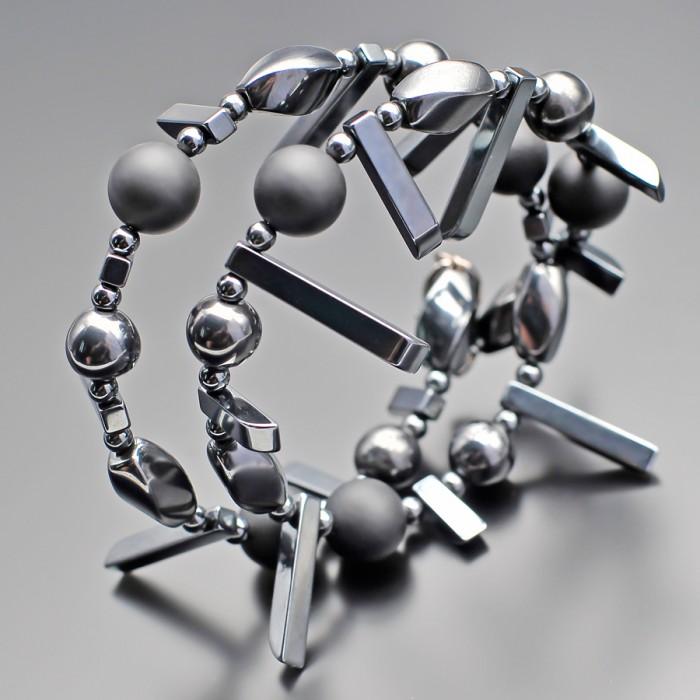 Дизайнерский браслет из натуральных камней. Украшение Rico La Cara.