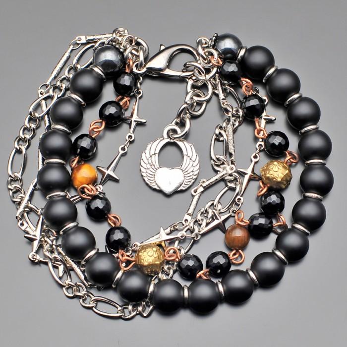 Дизайнерский браслет Rico La Cara из натуральных камней.