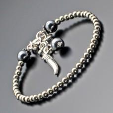 Дизайнерский браслет на руку из желтого пирита. Бижутерия Rico La Cara.
