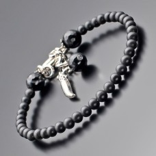 Дизайнерский браслет на руку из камней шунгита. Rico La Cara.