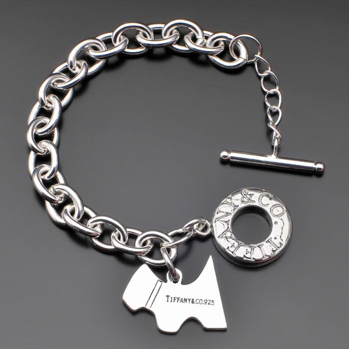 Женский браслет с собачкой в стиле Tiffany&Co.
