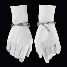 Браслет на руку с распятием и камнями гематита. Rico La Cara.