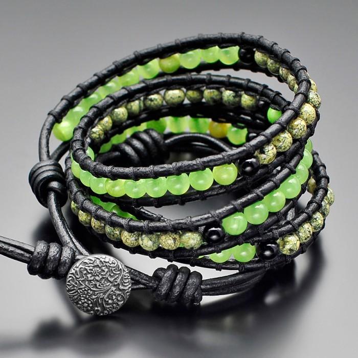 Женский браслет из натуральных камней в стиле Chan Luu.