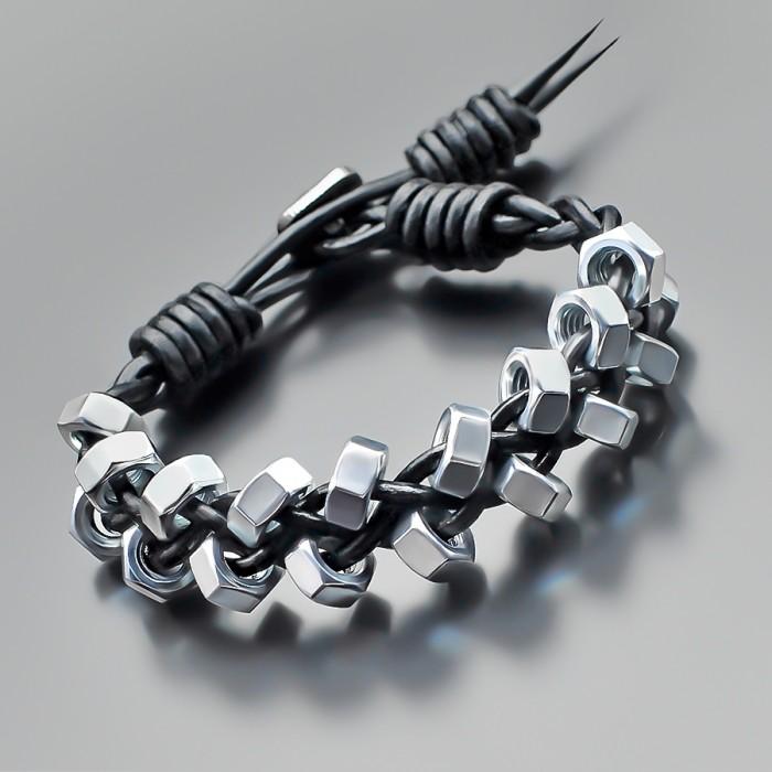 Браслет в стиле Chan Luu, из стальных гаек 10 mm. Rico La Cara.