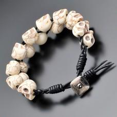 Мужской браслет. Chan Luu. Говлит в форме черепа. Rico La Cara.