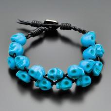 Браслет. Chan Luu. Синий говлит в форме черепа. Rico La Cara.