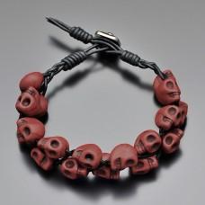 Мужской браслет. Chan Luu. Коричневый говлит, форма черепа. Rico La Cara.
