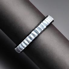 Кожаный браслет. Chan Luu. Крашеный гематит.