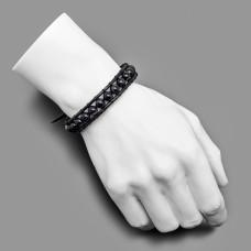Бижутерия из натурального камня агат. Кожаный браслет.