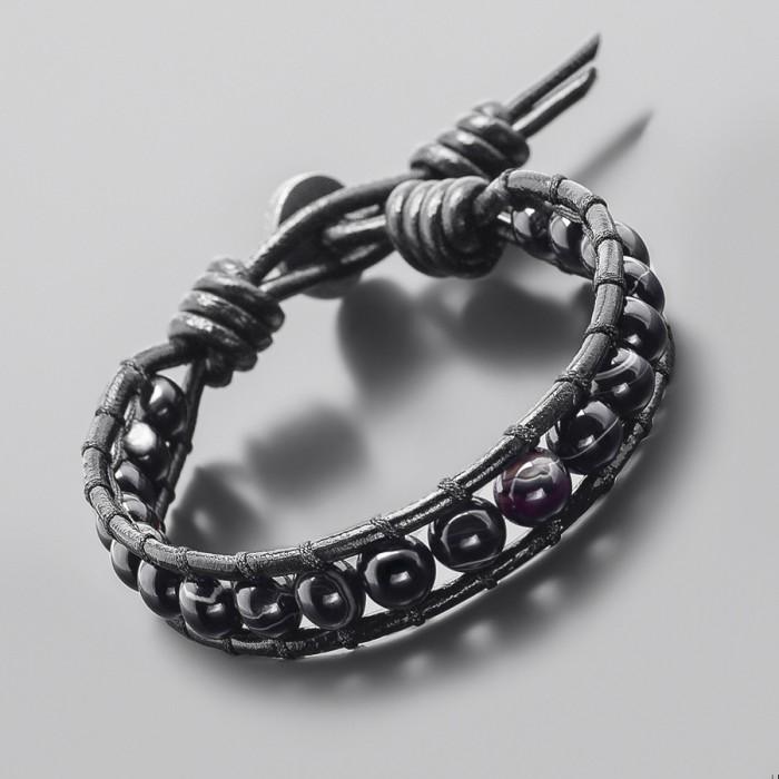 Браслет в стиле Chan Luu, из натурального камня агат. Rico La Cara.