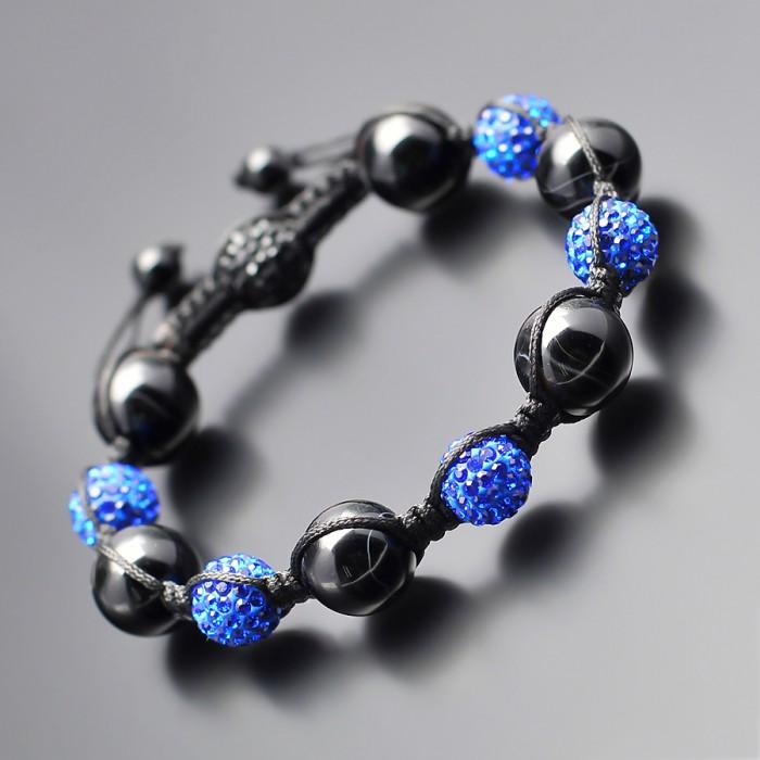 Shambhala. Украшение Rico La Cara с шармами синих кристаллов.