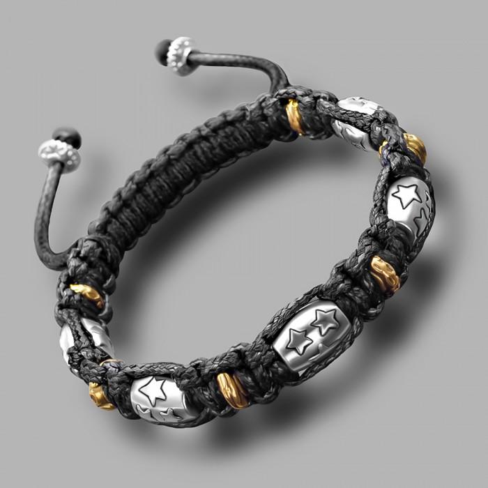 Плетеный браслет на руку шамбала (shambhala). Бижутерия Rico La Cara.