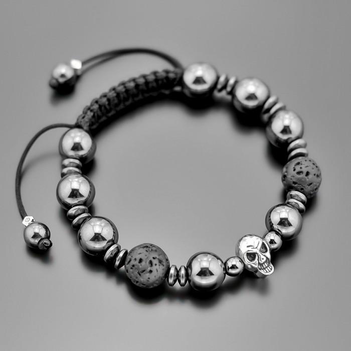 Шамбала с черепом. Rico La Cara украшение с камнями гематита.