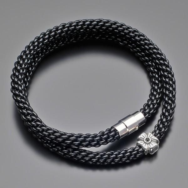 Дизайнерский плетеный чокер Rico La Cara из каучука, замок на магните.