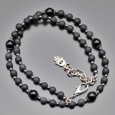 Чокер, ожерелье на шею из камней шунгита 6 mm. Rico La Cara.