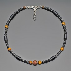 Чокер. Ожерелье. Бижутерия с натуральными камнями. Украшение на шею.