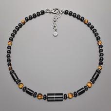 Чокер Rico La Cara. Ожерелье из натуральных камней тигровый глаз.