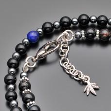 Чокер Rico La Cara. Ожерелье из натурального камня лазурит.