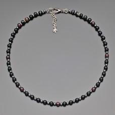 Чокер Rico La Cara. Ожерелье с вставками из камня красный гранат.
