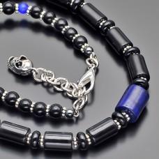 Чокер Rico La Cara. Ожерелье с подвеской из камня лазурит.