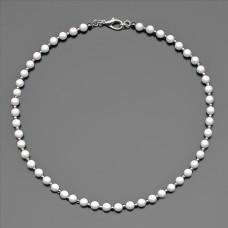 Чокер Rico La Cara. Ожерелье из камней белого агата 6 mm.