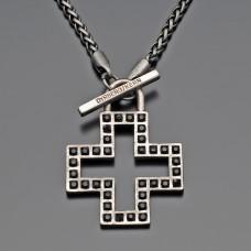 Бижутерия под старинное серебро. Цепочка с крестом.