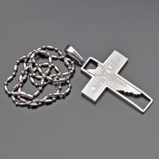 Бижутерия из стали. Подвеска, крест украшение на шею.