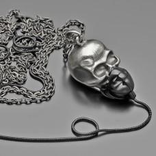 Украшение на шею. Бижутерия под черненое серебро.