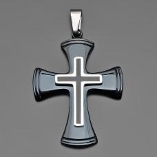 Крест, подвеска на кожаном шнурке.