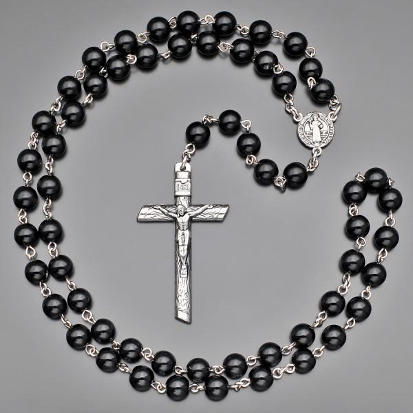 Католический розарий, бусы с крестом. Бижутерия Rico La Cara.