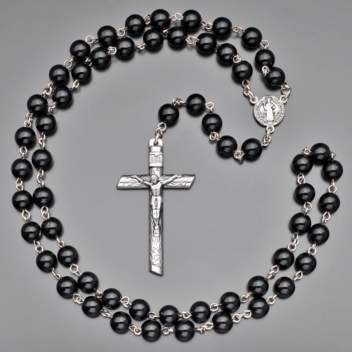 Католический розарий Rico La Cara бусы с крестом.