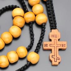 Мужские бусы, четки с крестом. Украшение на шею Rico La Cara.
