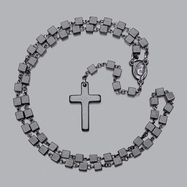 Розарий - бусы на шею, бусы с крестом. Дизайнерская бижутерия.