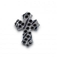 Серьги в форме креста.
